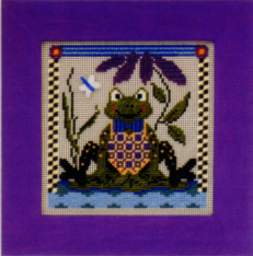 click here to view larger image of Fritzy Frog (counted cross stitch kit)