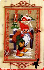 click here to view larger image of Advent Calendar - Elf (counted cross stitch kit)