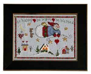 click here to view larger image of Welcome Home Calendar Series December - Be Blessed (counted cross stitch kit)