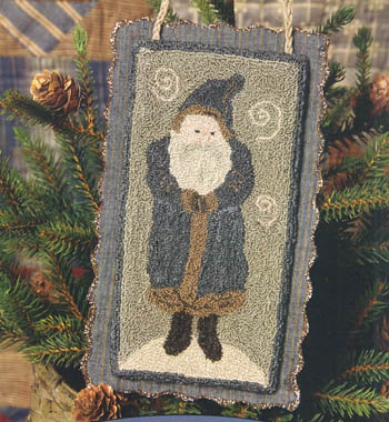 click here to view larger image of Chalkware Santa (punchneedle w/fabric) (Punchneedle)