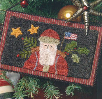click here to view larger image of Old Saint Nick (punchneedle w/fabric) (Punchneedle)