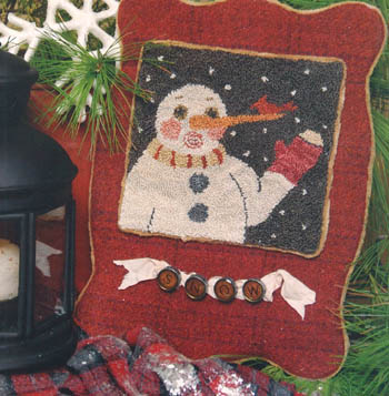 click here to view larger image of Snow Surprised (punchneedle w/fabric) (Punchneedle)