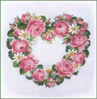 click here to view larger image of Heart Of Roses & Daisies (chart)