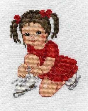 click here to view larger image of Ice Skater Girl (chart)