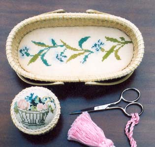 click here to view larger image of Scissors Basket Liner/Pincushion (chart)