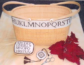 click here to view larger image of Quaker Alphabet Band w/pincushion and fob (chart)