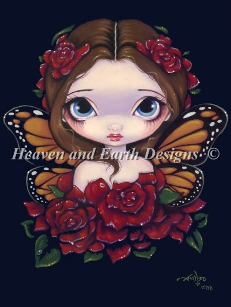 click here to view larger image of Rose Fairy - Quick Stitch (chart)