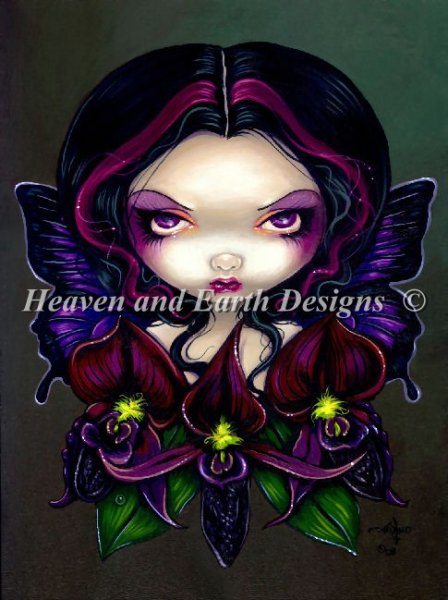 click here to view larger image of Black Orchid Fairy - Quick Stitch (chart)