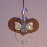 click here to view larger image of Rustic Heart With Bumble Bee (small)  (3.5 in) (accessory)