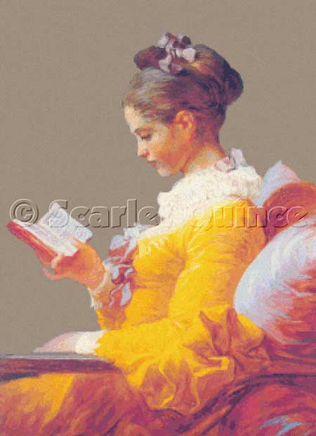 click here to view larger image of Young Girl Reading, A (detail) (chart)
