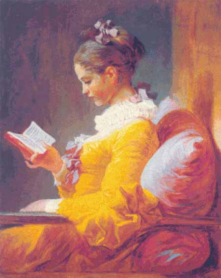 click here to view larger image of Young Girl Reading, A  (chart)