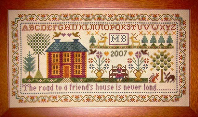 click here to view larger image of Friends House Sampler (chart)