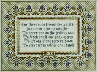 click here to view larger image of Sisters Sampler  (chart)