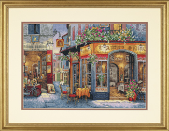 click here to view larger image of European Bistro (counted cross stitch kit)