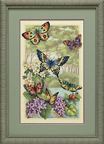 click here to view larger image of Butterfly Forest (counted cross stitch kit)