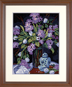 click here to view larger image of Tulips & Lilacs (needlepoint kits)