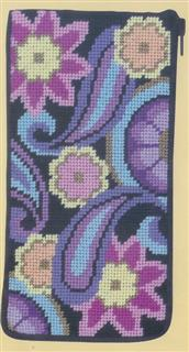 click here to view larger image of Paisley - Eyeglass/Cellphone Case (needlepoint)