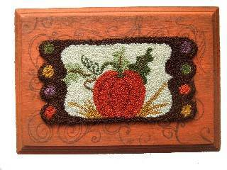 click here to view larger image of November - Pumpkin Penny Rug (Punchneedle)
