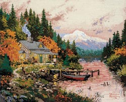 click here to view larger image of End Of A Perfect Day, The (counted cross stitch kit)