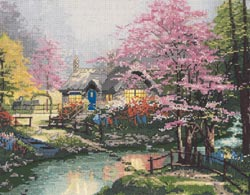 click here to view larger image of Stepping Stone Cottage  (counted cross stitch kit)