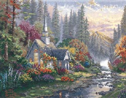 click here to view larger image of Forest Chapel  (counted cross stitch kit)