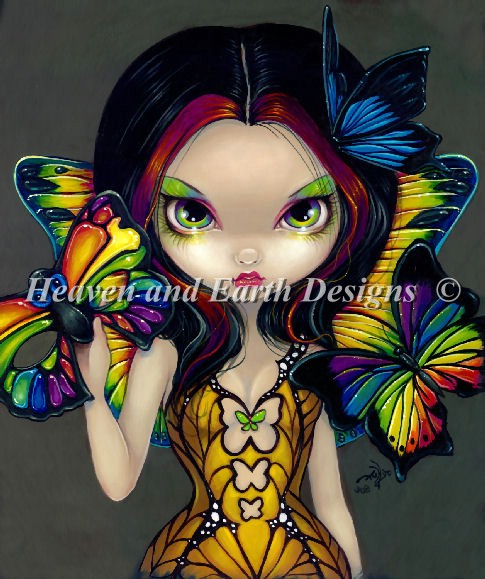 click here to view larger image of Fairy With a Butterfly Mask - Quick Stitch (chart)