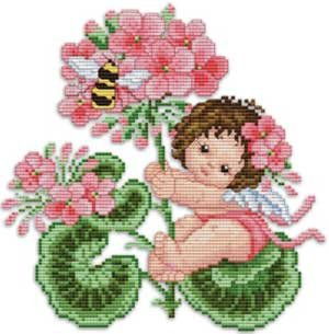 click here to view larger image of Geranium Fairy Baby (chart)