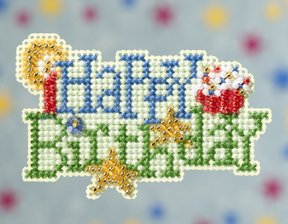 click here to view larger image of Happy Birthday (2009)  (counted cross stitch kit)