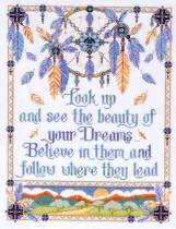 click here to view larger image of Beauty of Your Dreams (counted cross stitch kit)