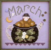 click here to view larger image of Tea Pot - March (button pack)
