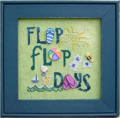click here to view larger image of Flip Flop Days (button pack)