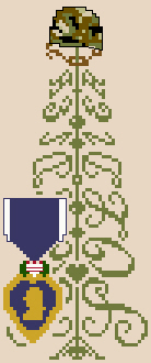 click here to view larger image of Soldier Tree (with Purple Heart) (chart)