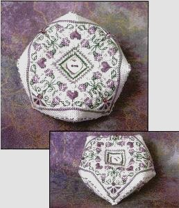 click here to view larger image of Lavender Blossoms Biscornu (counted cross stitch kit)
