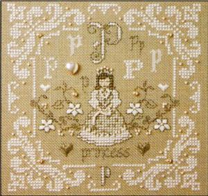 click here to view larger image of P Is For Princess (counted cross stitch kit)