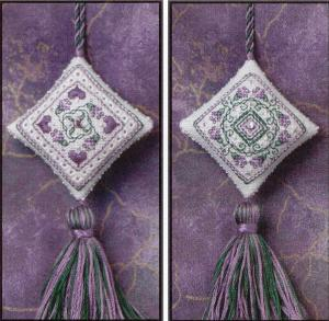 click here to view larger image of Lavender Blossoms Fob (chart)