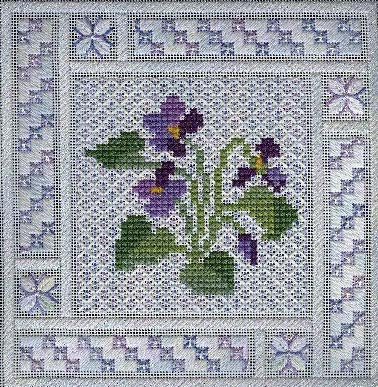 click here to view larger image of Crystal Violets (counted canvas chart)