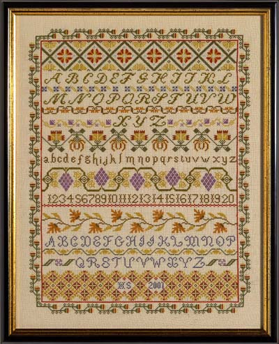 click here to view larger image of Band Sampler (KIT) (counted cross stitch kit)