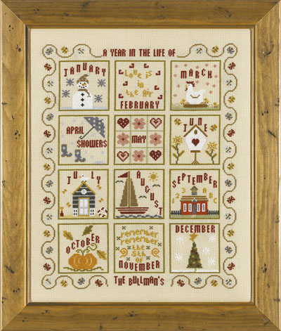 click here to view larger image of Year In The Life Of..., A (Kit) (counted cross stitch kit)