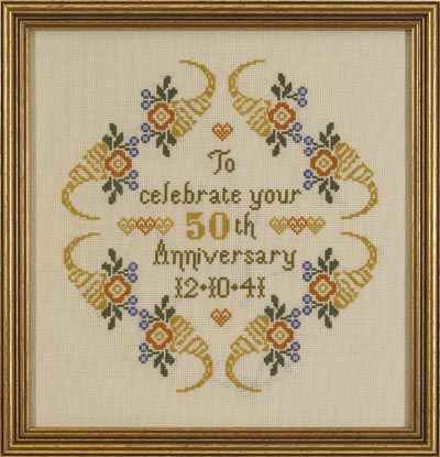 click here to view larger image of Celebration Sampler (KIT) (counted cross stitch kit)