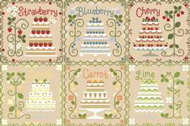 click here to view larger image of Cottage Cakes (counted cross stitch kit)