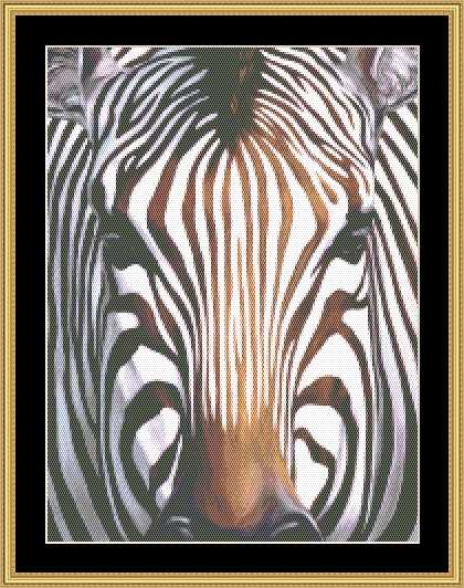 click here to view larger image of Many Faces Collection - Zebra (chart)