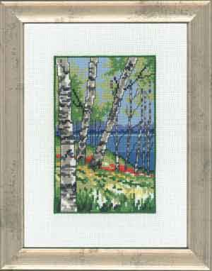 click here to view larger image of Birch Trees  (counted cross stitch kit)