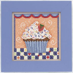 click here to view larger image of Chocolate  Cupcake (counted cross stitch kit)