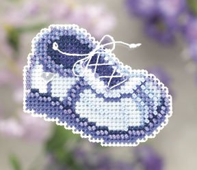 click here to view larger image of Blue Sneaker  (2011) (counted cross stitch kit)
