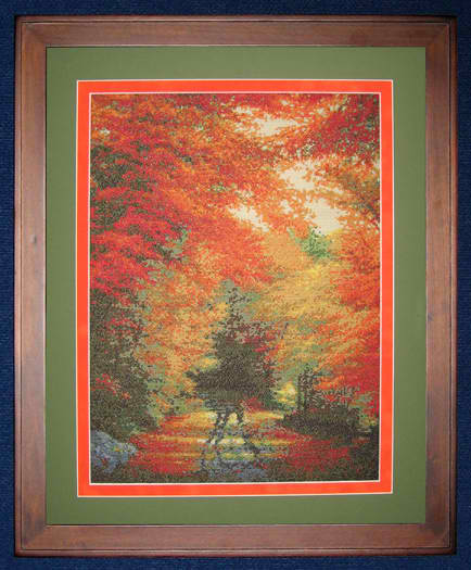 click here to view larger image of Autumn In New England (counted cross stitch kit)