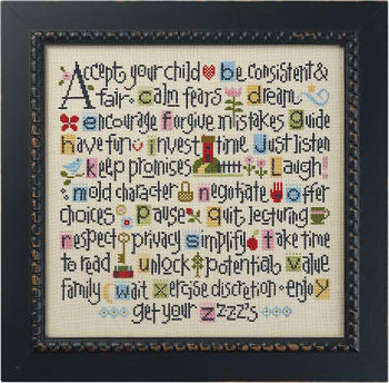 click here to view larger image of ABC's of Parenting (counted cross stitch kit)
