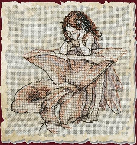 click here to view larger image of Le Miroir aux Girolles (Chart) (counted cross stitch kit)