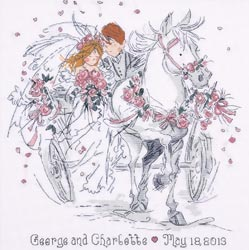 click here to view larger image of Wedding Carriage (counted cross stitch kit)