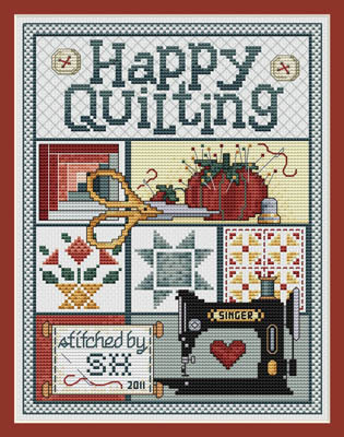 click here to view larger image of Happy Quilting (chart)