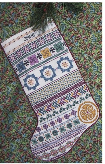 click here to view larger image of Celtic Christmas Stocking (chart)